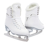 Jackson Ultima Finesse women's girls white figure skate with white trim