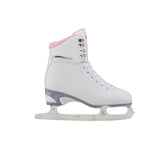 Jackson Ultima Finesse women's girls white figure skate with pink trim