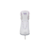 Jackson Ultima Finesse women's girls white figure skate with purple trim