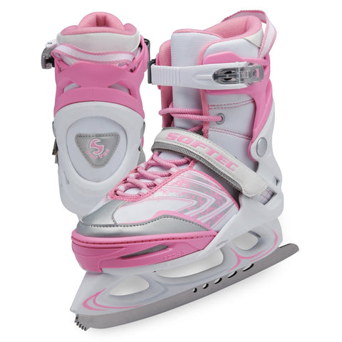 Jackson Ultima Softec Vibe women's girls pink and white adjustable recreational figure skate