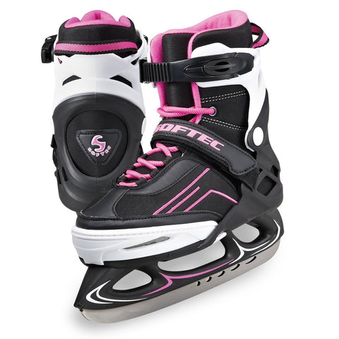 Jackson Ultima Softec Vibe women's girls pink and white and black adjustable recreational figure skate