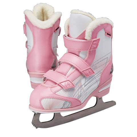 Jackson Ultima Softec Tri-Grip youth pink and white recreational ice skates