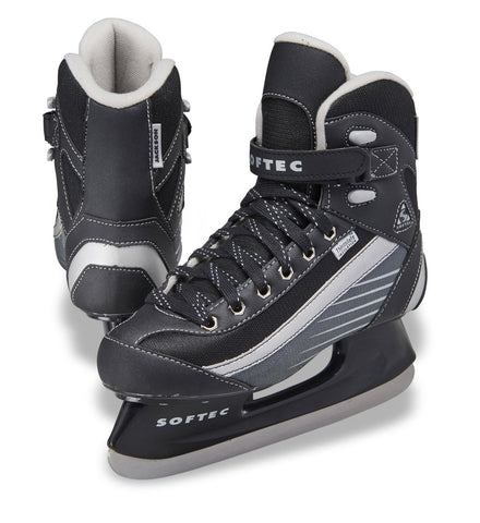 Jackson Ultima Softec Sport black and white men's boys recreational hockey skate