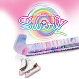 Swirlz figure skate guard multi-colored with tropical fruit scent