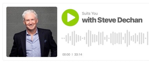 Episode 3 of our Suits You Podcast with Steve Dechan