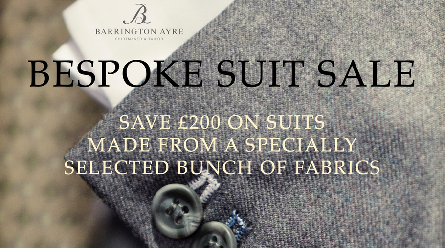 BESPOKE SUIT SALE!