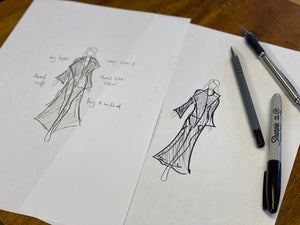 The story behind designing & making a new clothing range