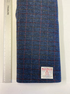 Harris Tweed - Navy with red and orange overchecks