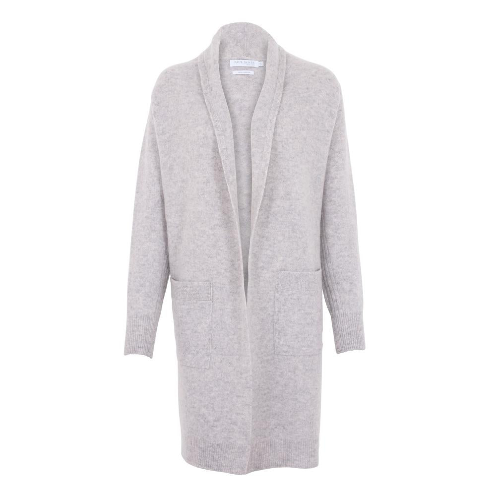 Pure Lambswool Long Line Cardigan with Pockets