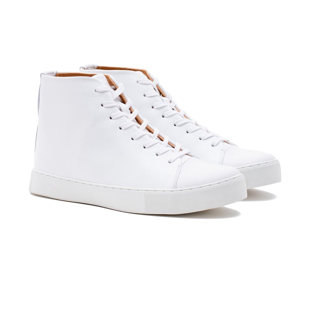 White Hi Top Made to Order Shoes