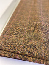 Rich Brown Glen Check Tweed with red overcheck