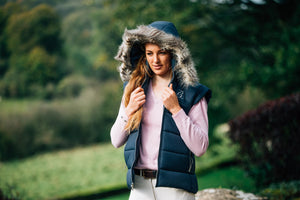 Murray - Padded Gilet with Detachable Fur Hood - BARRINGTON AYRE SPORT