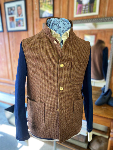 Fosse Gilet - Harris Tweed
