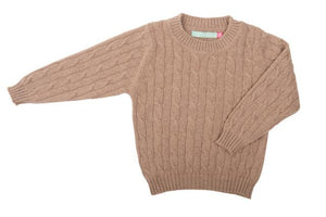 Cashmere Round Neck Cable Jumper - BARRINGTON AYRE SPORT