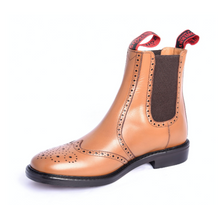 Brogue Boot - Tan Mustang Appleby by Sowerby - SIZE 9