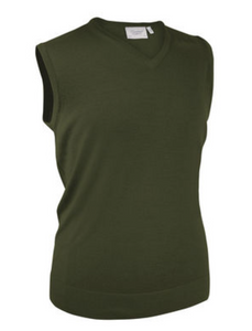 V neck slip over merino