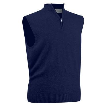 Zip Neck Slip Over Merino Jumper - BARRINGTON AYRE SPORT