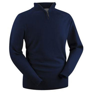 Zip Neck Lambswool jumper - BARRINGTON AYRE SPORT