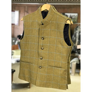 Quilted tweed gilet