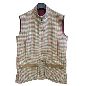 Tweed Jerkin / Nehru collar gilet