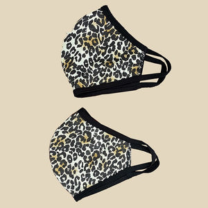 Washable reusable face protection animal print face mask