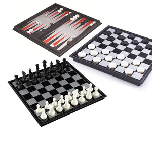 3-in-1 Chess/Backgammon/Checkers Set