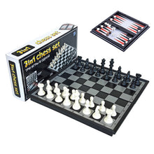 Load image into Gallery viewer, 3-in-1 Chess/Backgammon/Checkers Set