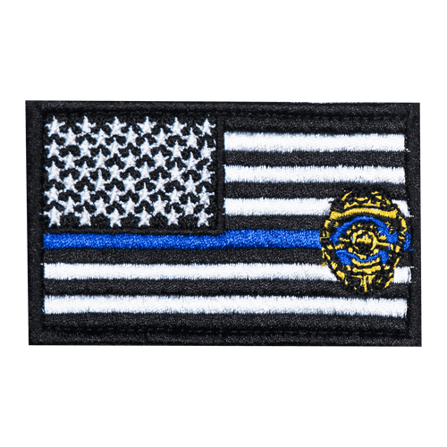 Blue Line Shield Flag