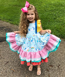 Girl's Unicorn Ruffle Dress