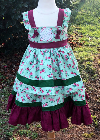 Vintage Rose Apron dress