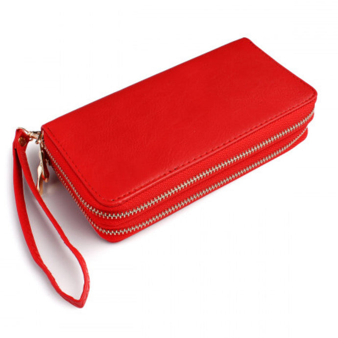 Red D-zip Wallet