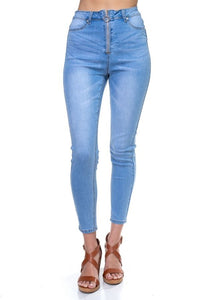 Zip-up High-waisted Jeans