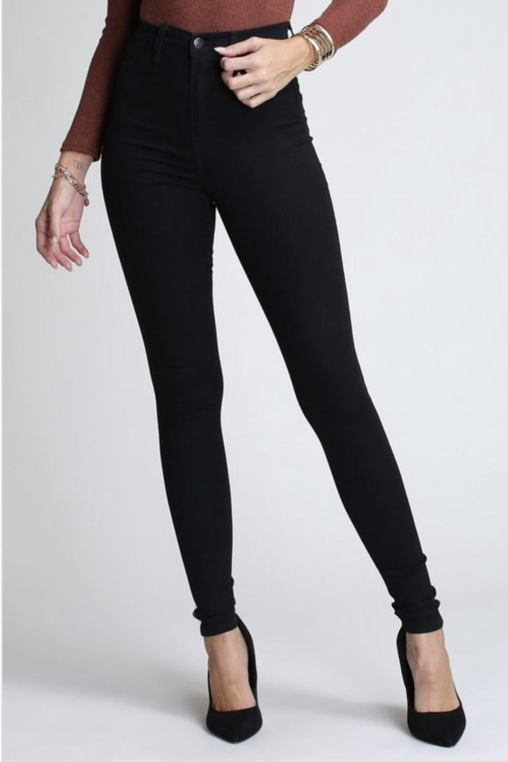 High Waisted Skinny Jeans (black)