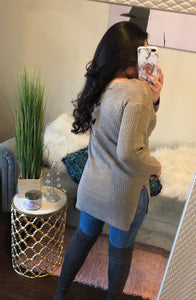 My Type Knit Dress/Top (khaki)