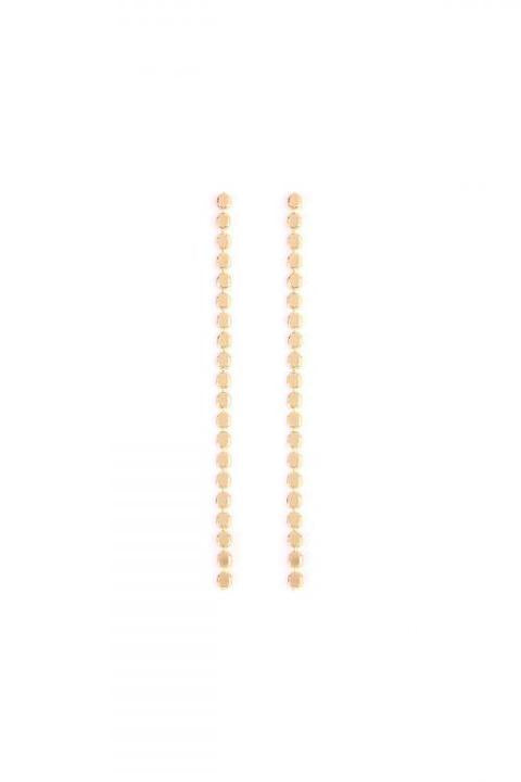 Gold Lariat Earrings