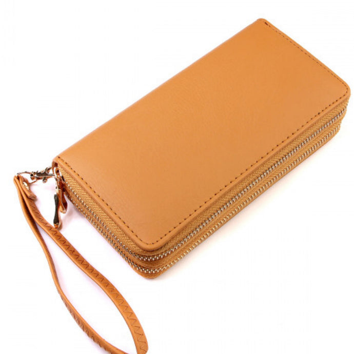 Tan D-zip Wallet