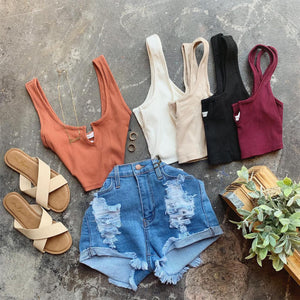 Ashley Crop Top (rust)
