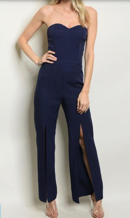 Perfectly Suited Jumpsuit- Navy