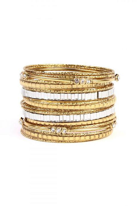 Rust Gold Bangle Set