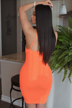 Load image into Gallery viewer, Maribel Cami Dress (neon Orange)