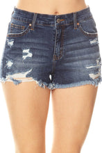 Load image into Gallery viewer, Livia Denim Shorts- Dark Wash
