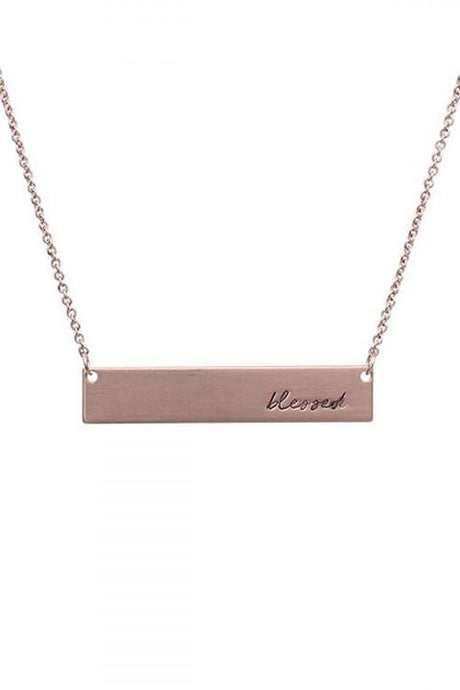 Blessed Necklace (rose gold)