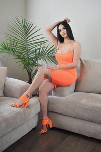 Maribel Cami Dress (neon Orange)