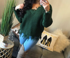 Danica Frayed Sweater