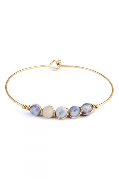 Blue Natural Stone Bracelet - Simply Jazzy boutique