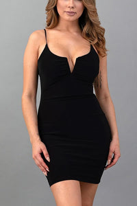 Quin Ruched Dress (Black)
