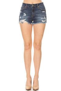 Livia Denim Shorts- Dark Wash