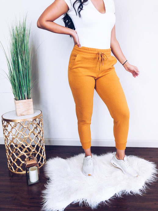 Cozy Anywhere Joggers (Mustard)