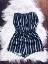Load image into Gallery viewer, Brunch Please Romper (black/white)