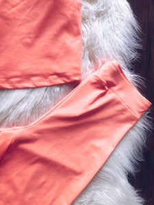 Kennedy Short Set (neon coral)
